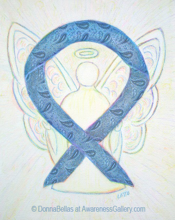 Blue Paisley Awareness Ribbon Meaning For Thyroid Disease And