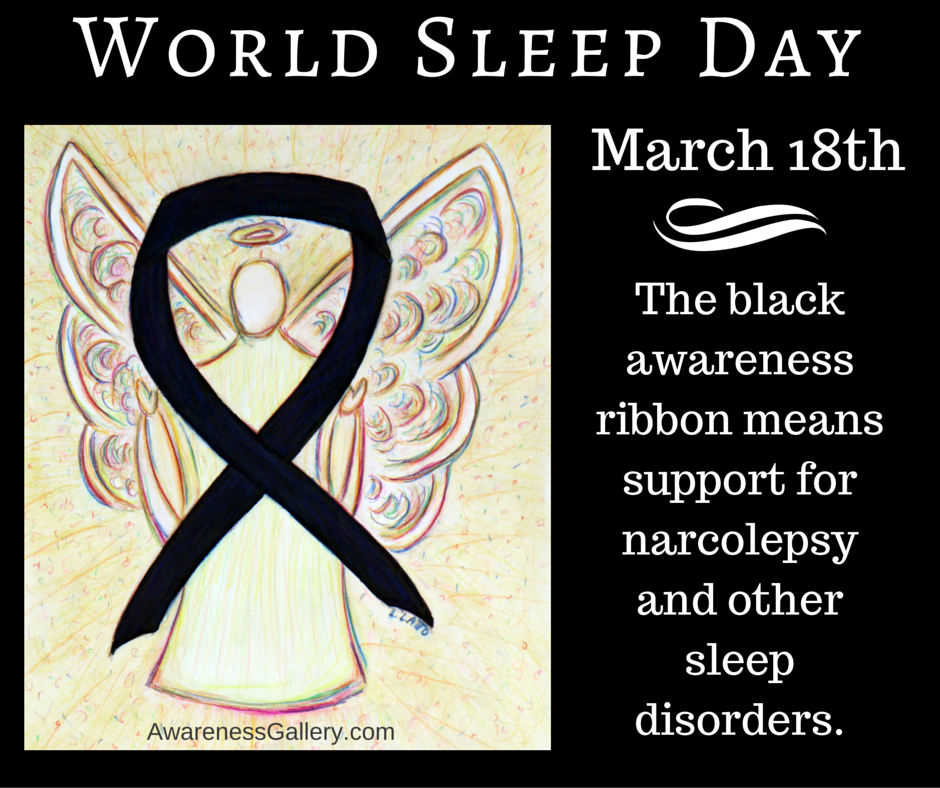 World Sleep Day Black Awareness Ribbon Angel Meaning Article
