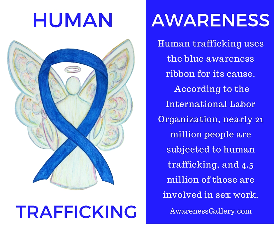 Human Trafficking Awareness Ribbon and Information