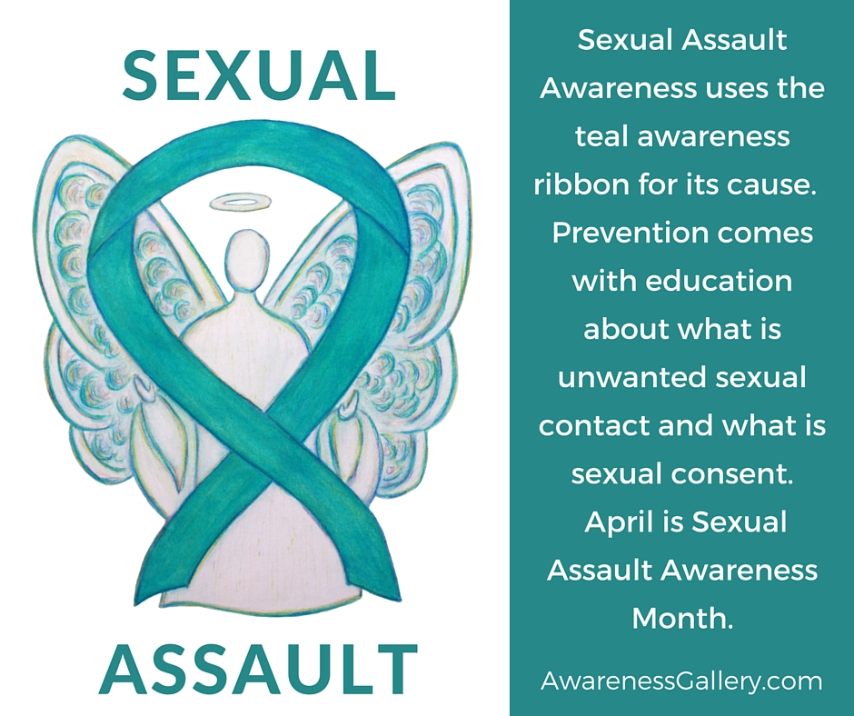 Sexual Assault Awareness Teal Ribbon Angel Art Painting