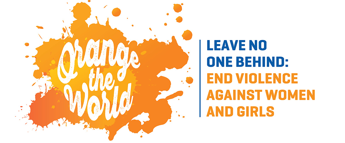 Orange the World Graphic for International Day for the Elimination of Violence against Women