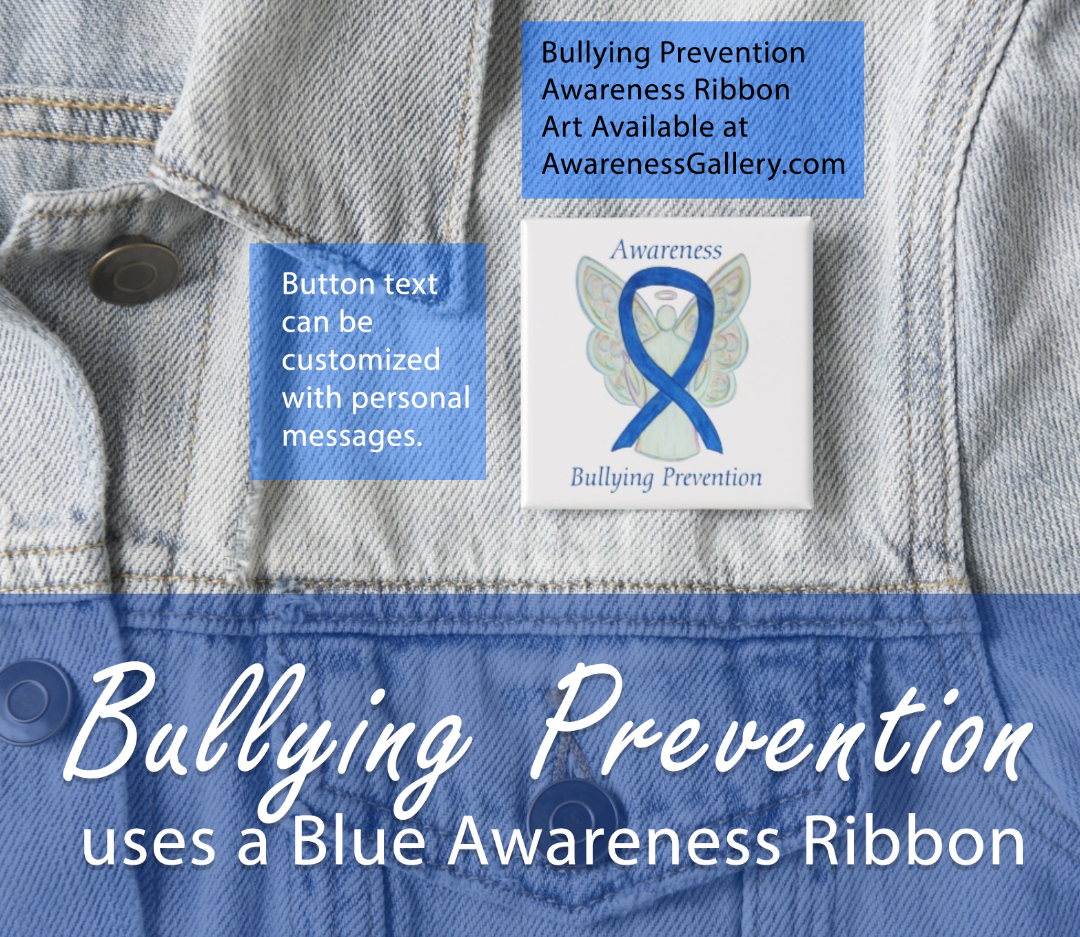 Bullying Prevention Awareness Ribbon Custom Merchandise for Sale
