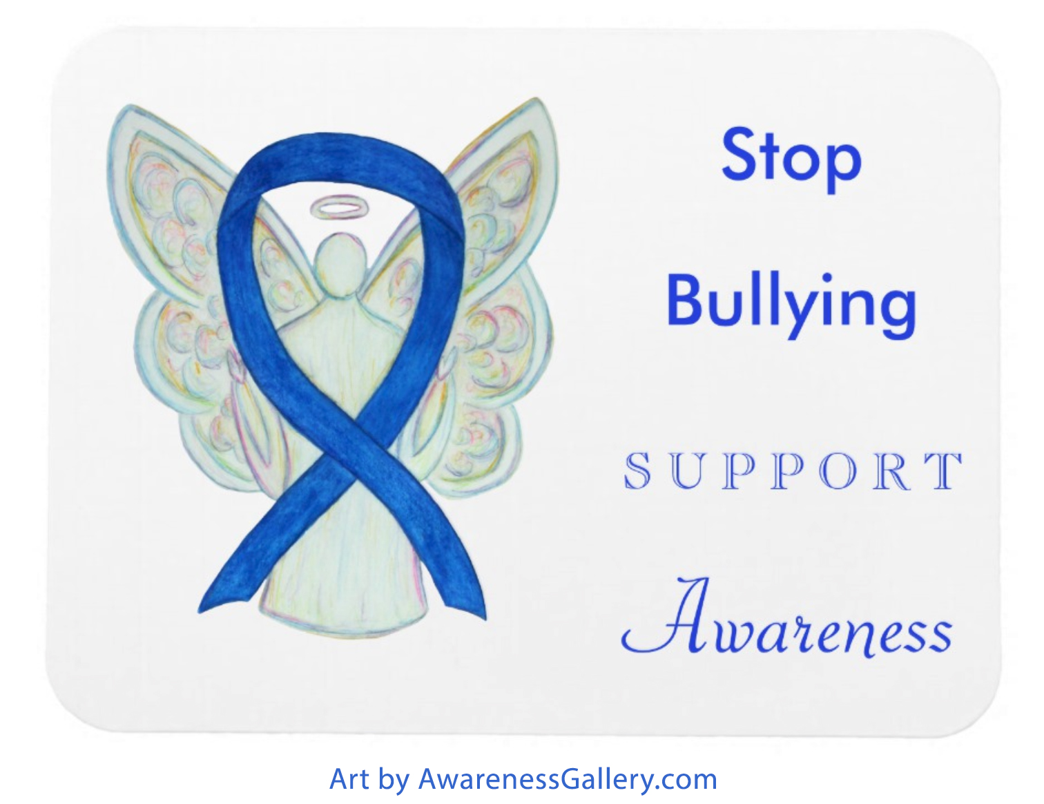 Stop Bullying Awareness Ribbon Custom Merchandise for Sale