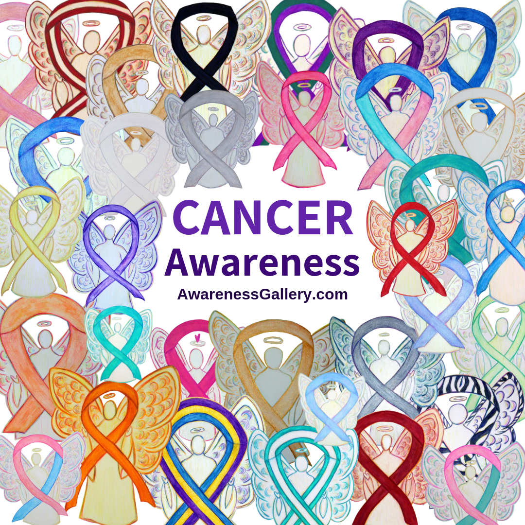 Cancer Awareness for all causes guardian angel art