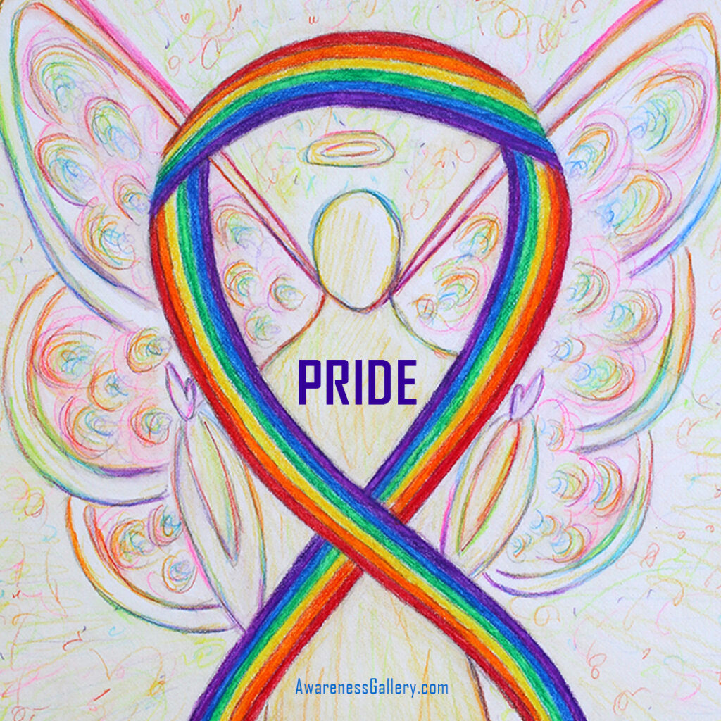 LGBTQIA Pride Rainbow Awareness Ribbon Art Painting