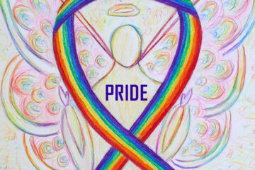LGBTQ Pride Rainbow Awareness Ribbon Art Painting