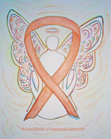 Childhood Cancer Gold Awareness Ribbon Angel Painting Art