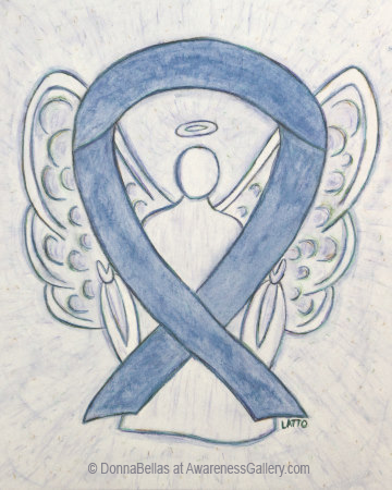 Gray Awareness Ribbon Angel