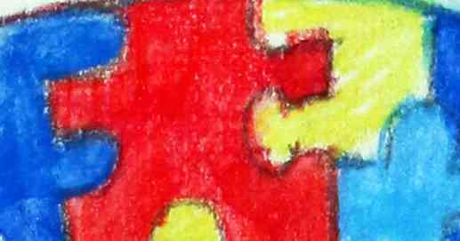 Autism Spectrum Disorder Puzzle Pieces ASD Awareness Ribbon Icon