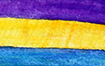 Purple, Blue, & Marigold Bladder Cancer Awareness Ribbon Icon